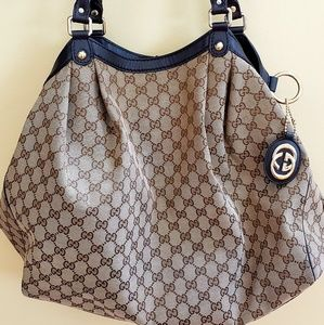 Brown  GG canvas Gucci Large Sukey tote  large